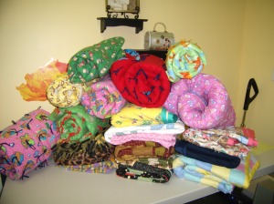 These quilts go to children in need--I love delivering them