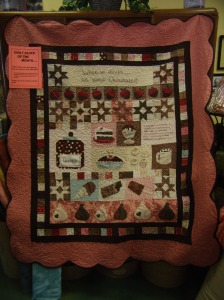 A finished Heavenly Chocolate Bliss Quilt