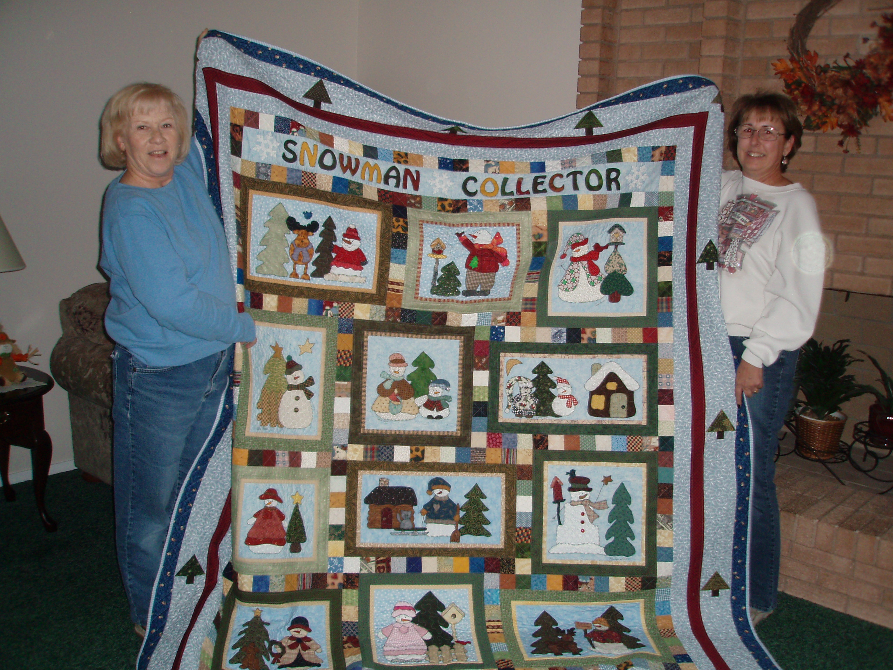 Snowman Quilt Fabric Snowman Quilt Winner