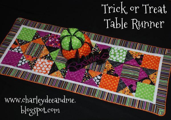 if the table runner is not for you consider this spooky frank n friends quilt to do download pattern here